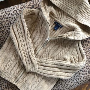 EUC Lands End Zipper Front Cardigan/Sweater Hoodie
